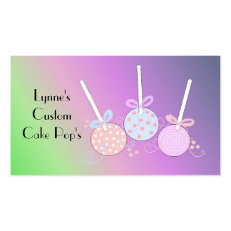 Pastel Cake Pops Double-Sided Standard Business Cards (Pack Of 100)