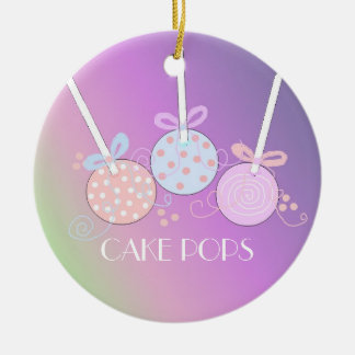 Pastel Cake Pops Ceramic Ornament