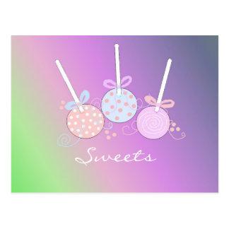 Pastel Cake Pops Postcard