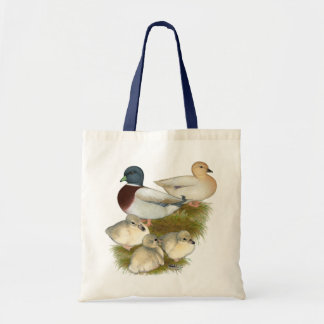 Pastel Call Duck Family Tote Bag