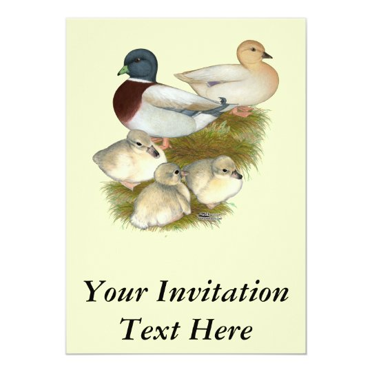 Pastel Call Duck Family Card