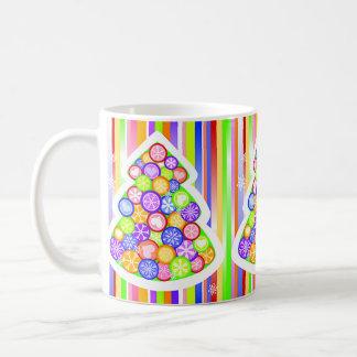 Pastel Candy Colors Christmas Tree Mug