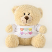 Pastel Candy Hearts Valentine's Day Love Valentine Teddy Bear