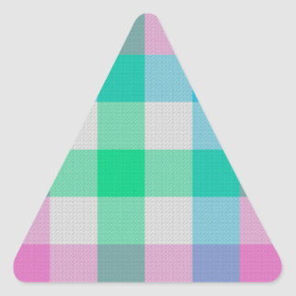 Pastel Candy Plaid Triangle Sticker