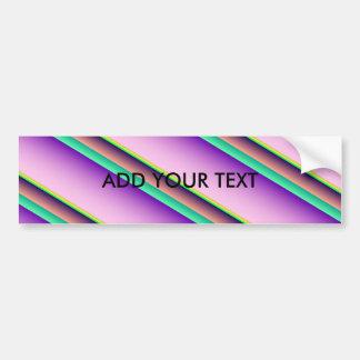 Pastel Candy Stripes Bumper Sticker
