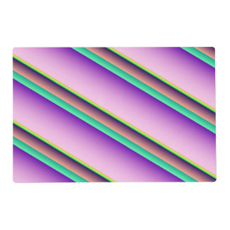 Pastel Candy Stripes Laminated Place Mat