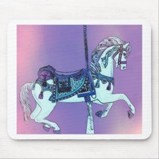Pastel Carousel Horse Mousepads