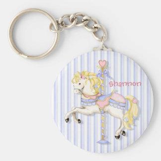 Pastel Carousel Pony Keychain