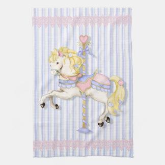 Pastel Carousel Pony Kitchen Towel