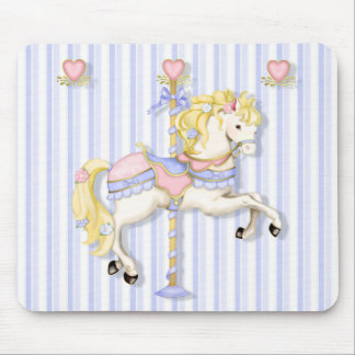 Pastel Carousel Pony Mouse Pad