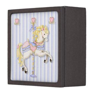 Pastel Carousel Pony Premium Keepsake Boxes