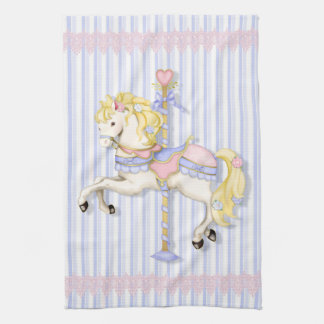 Pastel Carousel Pony Towel