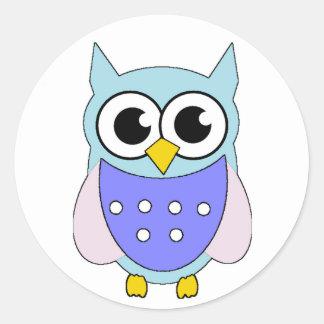 Pastel Cartoon Owl Sticker