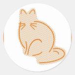 Pastel Cat Classic Round Sticker