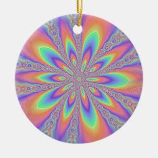 Pastel Chains Pattern Ceramic Ornament