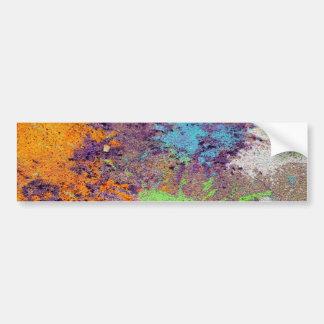 Pastel chalk splatter bumper stickers