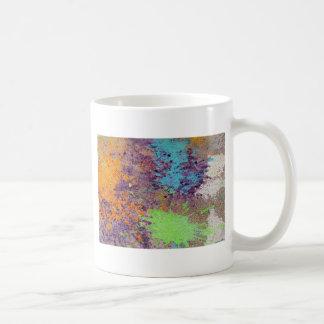 Pastel chalk splatter coffee mugs