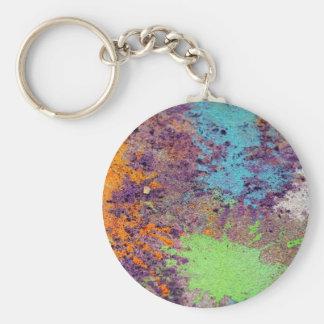 Pastel chalk splatter key chain