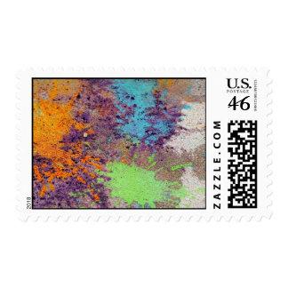 Pastel chalk splatter stamp