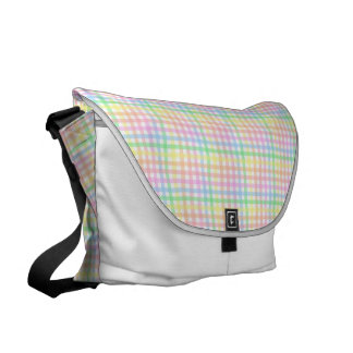 Pastel Checkerboard Courier Bags