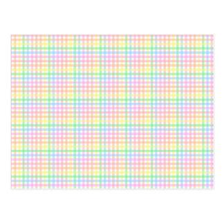 Pastel Checkerboard Postcard