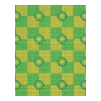 Pastel checkered and textured green yellow personalized flyer