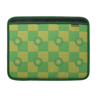 Pastel checkered and textured green yellow sleeve for MacBook air