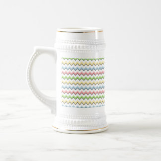 Pastel Chevron-Drop Shadow by Shirley Taylor Beer Stein