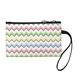 Pastel Chevron-Drop Shadow by Shirley Taylor Coin Wallet