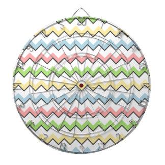 Pastel Chevron-Drop Shadow Dartboards