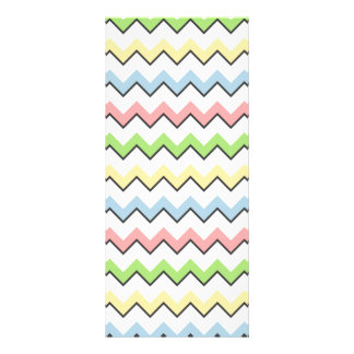 Pastel Chevron-Drop Shadow Full Color Rack Card