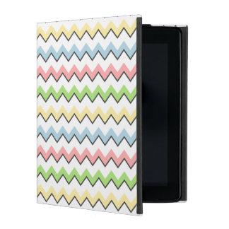 Pastel Chevron-Drop Shadow iPad Folio Cases