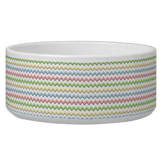 Pastel Chevron-Drop Shadow Pet Food Bowls
