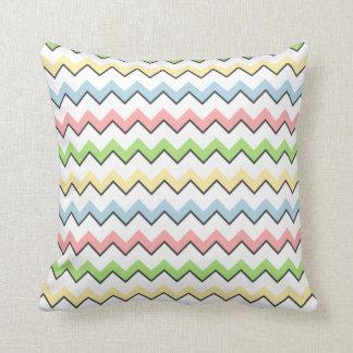 Pastel Chevron-Drop Shadow Pillows