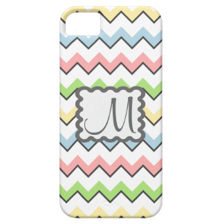 Pastel Chevron-Drop Shadow With Monogram iPhone 5 Cover