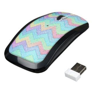 Pastel Chevron Mosaic Wireless Mouse