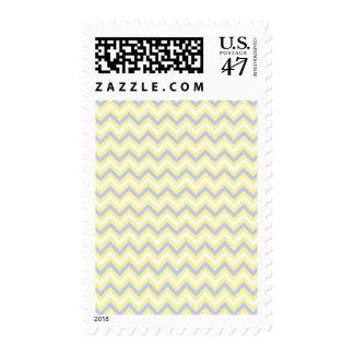 Pastel Chevron Pattern Postage