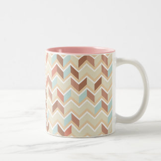 Pastel Chevron Pattern Two-Tone Coffee Mug
