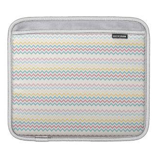 Pastel Chevron Stripes iPad Sleeves