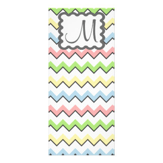 Pastel Chevron with Monogram by Shirley Taylor Rack Card