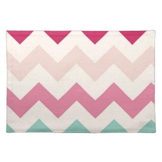 Pastel chevron zigzag stripes zig zag pattern chic cloth placemat