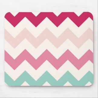 Pastel chevron zigzag stripes zig zag pattern chic mouse pad