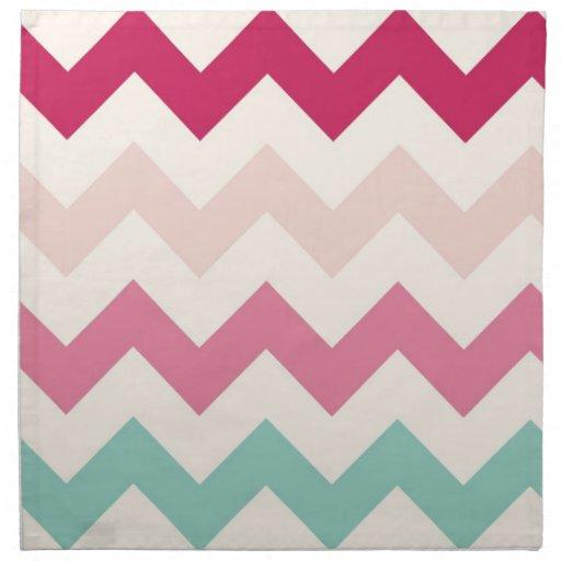 Pastel chevron zigzag stripes zig zag pattern chic napkins