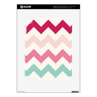 Pastel chevron zigzag stripes zig zag pattern chic skin for iPad 3