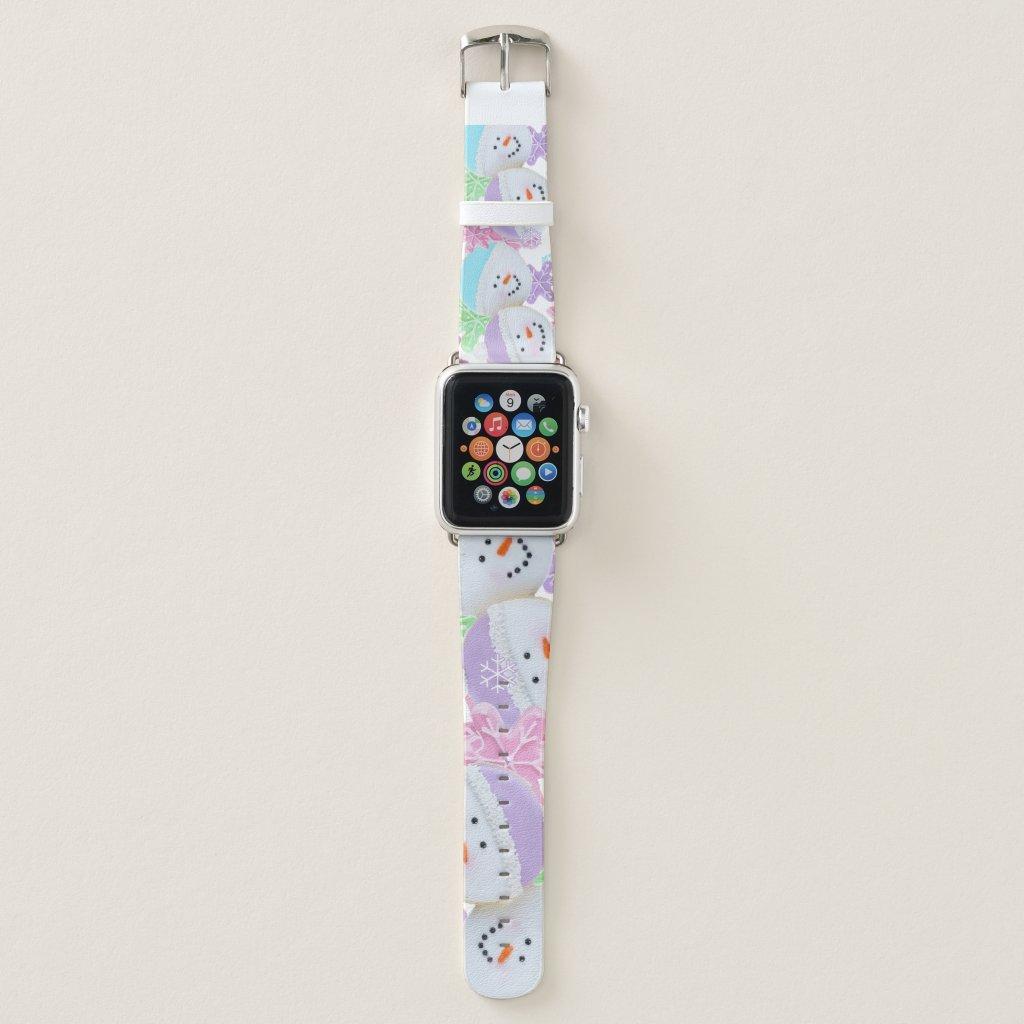 Pastel Christmas Cookies Apple Watch Straps