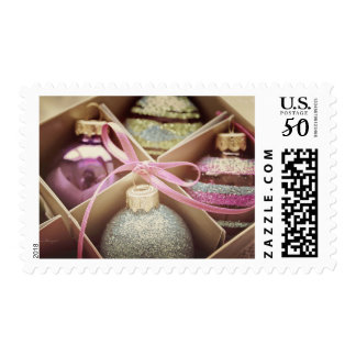 Pastel Christmas Ornaments Postage