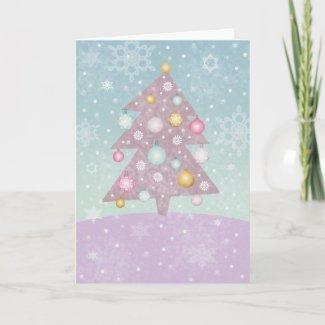 Pastel Christmas Tree Card