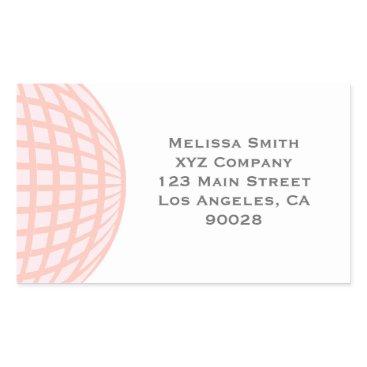 Professional Business Pastel Circle Globe Corporate Business Rectangular Sticker