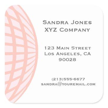 Professional Business Pastel Circle Globe Corporate Business Square Sticker
