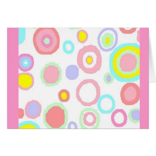 Pastel circles blank card